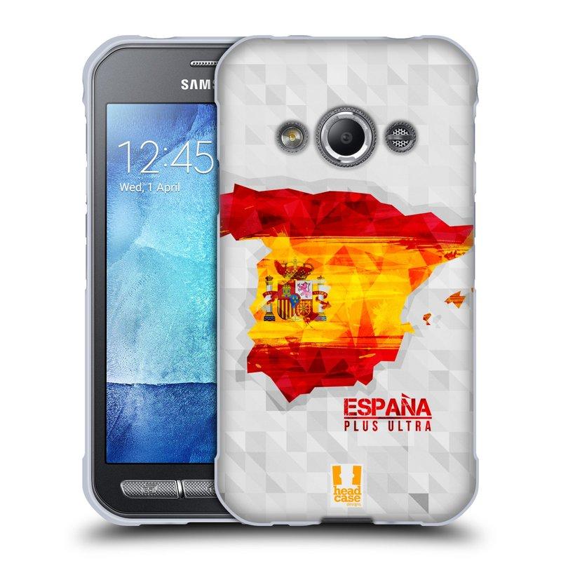 Silikonové pouzdro na mobil Samsung Galaxy Xcover 3 HEAD CASE GEOMAPA ŠPANĚLSKO (Silikonový kryt či obal na mobilní telefon Samsung Galaxy Xcover 3 SM-G388F)