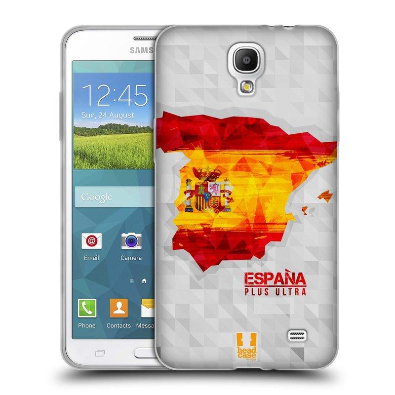Silikonové pouzdro na mobil Samsung Galaxy Grand Mega 2 HEAD CASE GEOMAPA ŠPANĚLSKO (Silikonový kryt či obal na mobilní telefon Samsung Galaxy Grand Mega 2 SM-G750)