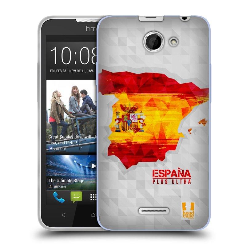 Silikonové pouzdro na mobil HTC Desire 516 HEAD CASE GEOMAPA ŠPANĚLSKO (Silikonový kryt či obal na mobilní telefon HTC Desire 516 Dual SIM)