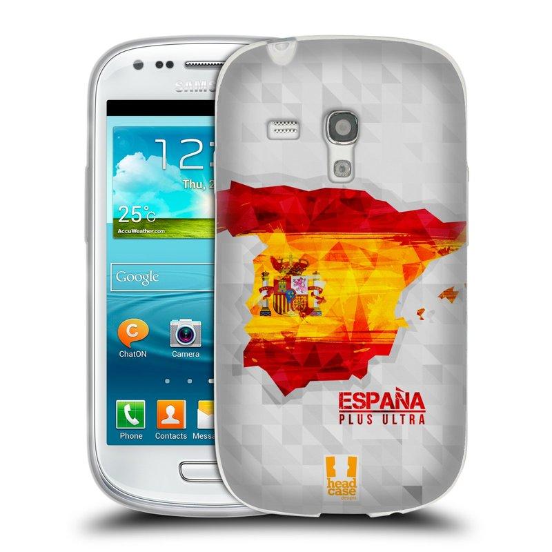 Silikonové pouzdro na mobil Samsung Galaxy S III Mini HEAD CASE GEOMAPA ŠPANĚLSKO (Silikonový kryt či obal na mobilní telefon Samsung Galaxy S III Mini GT-i8190)