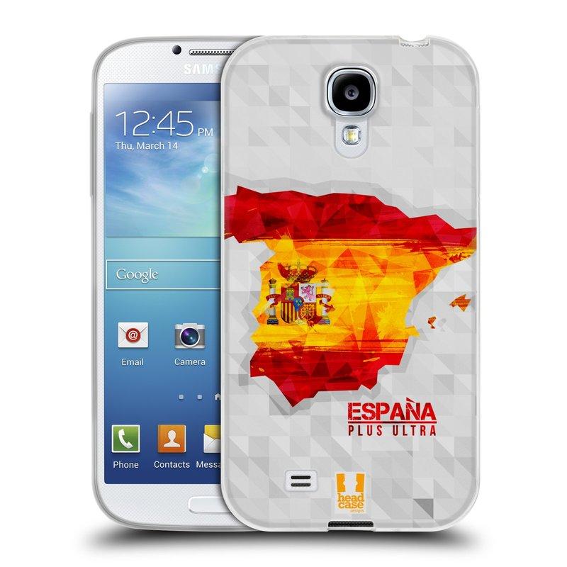 Silikonové pouzdro na mobil Samsung Galaxy S4 HEAD CASE GEOMAPA ŠPANĚLSKO (Silikonový kryt či obal na mobilní telefon Samsung Galaxy S4 GT-i9505 / i9500)
