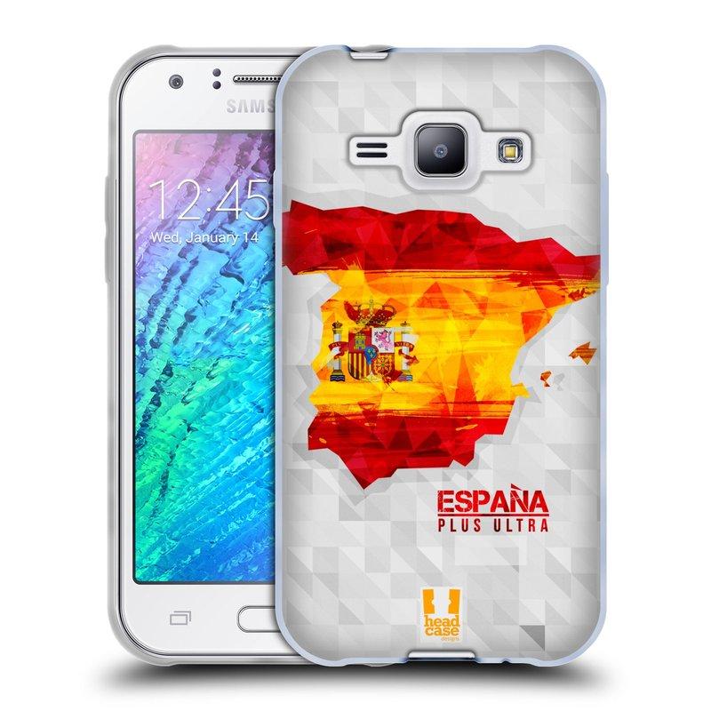 Silikonové pouzdro na mobil Samsung Galaxy J1 HEAD CASE GEOMAPA ŠPANĚLSKO (Silikonový kryt či obal na mobilní telefon Samsung Galaxy J1 a J1 Duos)