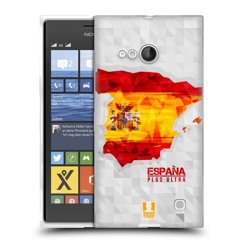 Silikonové pouzdro na mobil Nokia Lumia 730 Dual SIM HEAD CASE GEOMAPA ŠPANĚLSKO (Silikonový kryt či obal na mobilní telefon Nokia Lumia 730 Dual SIM)