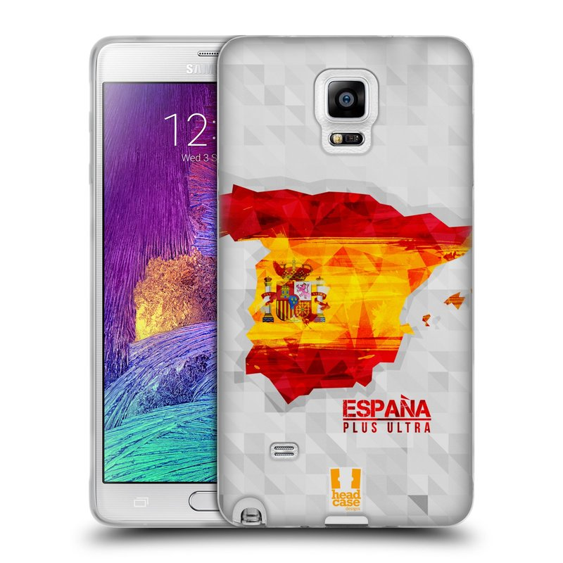 Silikonové pouzdro na mobil Samsung Galaxy Note 4 HEAD CASE GEOMAPA ŠPANĚLSKO (Silikonový kryt či obal na mobilní telefon Samsung Galaxy Note 4 SM-N910F)