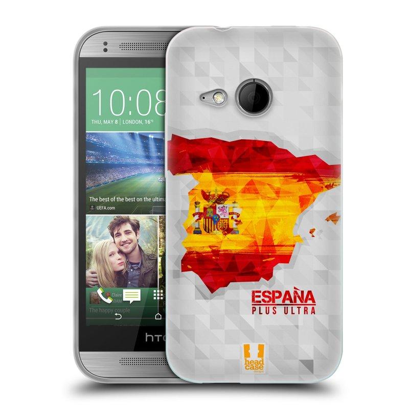 Silikonové pouzdro na mobil HTC ONE Mini 2 HEAD CASE GEOMAPA ŠPANĚLSKO (Silikonový kryt či obal na mobilní telefon HTC ONE Mini 2)