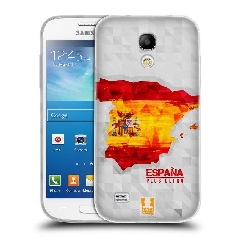 Silikonové pouzdro na mobil Samsung Galaxy S4 Mini HEAD CASE GEOMAPA ŠPANĚLSKO (Silikonový kryt či obal na mobilní telefon Samsung Galaxy S4 Mini GT-i9195 / i9190 (nepasuje na verzi Black Edition))