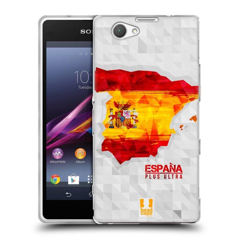 Silikonové pouzdro na mobil Sony Xperia Z1 Compact D5503 HEAD CASE GEOMAPA ŠPANĚLSKO (Silikonový kryt či obal na mobilní telefon Sony Xperia Z1 Compact)