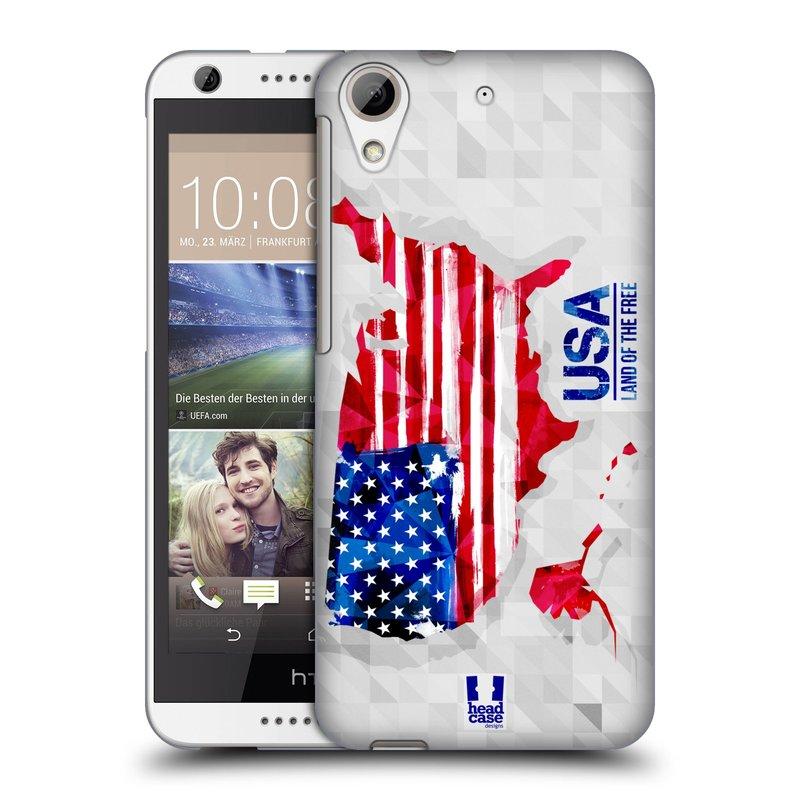 Plastové pouzdro na mobil HTC Desire 626 / 626G HEAD CASE GEOMAPA USA (Kryt či obal na mobilní telefon HTC Desire 626G Dual SIM a HTC Desire 626)