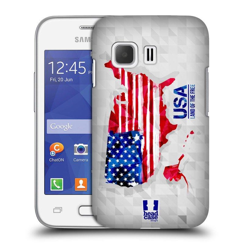 Plastové pouzdro na mobil Samsung Galaxy Young 2 HEAD CASE GEOMAPA USA (Kryt či obal na mobilní telefon Samsung Galaxy Young 2 SM-G130)