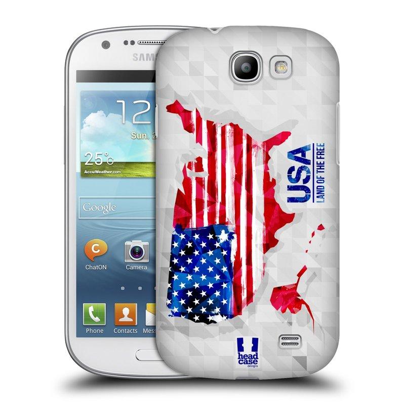 Plastové pouzdro na mobil Samsung Galaxy Express HEAD CASE GEOMAPA USA (Kryt či obal na mobilní telefon Samsung Galaxy Express GT-i8730)