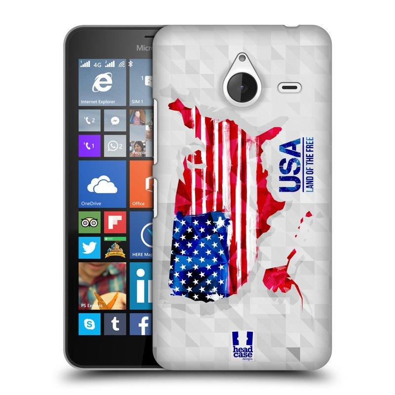 Plastové pouzdro na mobil Microsoft Lumia 640 XL HEAD CASE GEOMAPA USA (Kryt či obal na mobilní telefon Microsoft Lumia 640 XL)