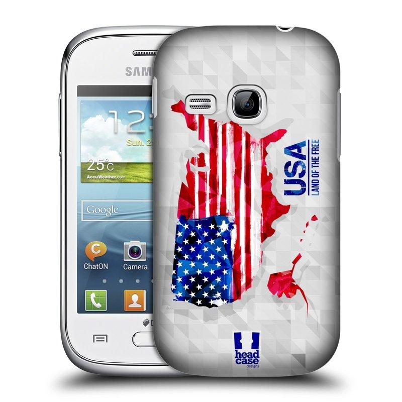 Plastové pouzdro na mobil Samsung Galaxy Young HEAD CASE GEOMAPA USA (Kryt či obal na mobilní telefon Samsung Galaxy Young GT-S6310)