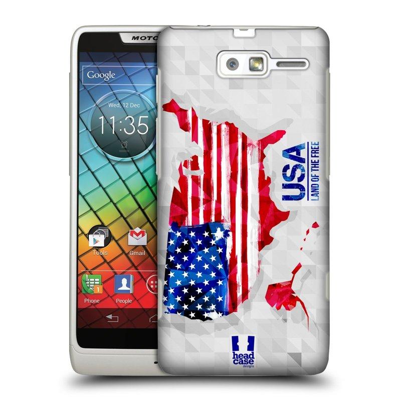 Plastové pouzdro na mobil Motorola Razr i XT890 HEAD CASE GEOMAPA USA (Kryt či obal na mobilní telefon Motorola Razr i XT890)