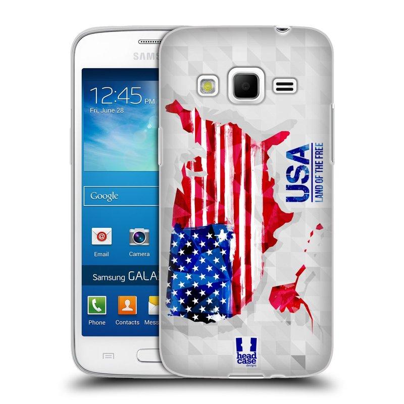 Silikonové pouzdro na mobil Samsung Galaxy Express 2 HEAD CASE GEOMAPA USA (Silikonový kryt či obal na mobilní telefon Samsung Galaxy Express 2 SM-G3815)