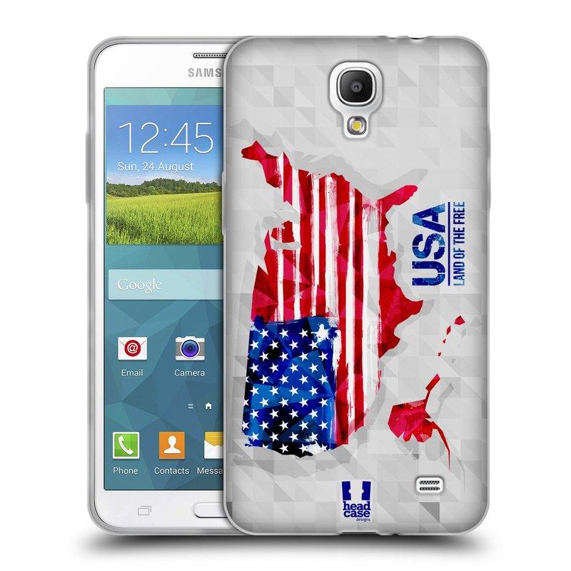 Silikonové pouzdro na mobil Samsung Galaxy Grand Mega 2 HEAD CASE GEOMAPA USA (Silikonový kryt či obal na mobilní telefon Samsung Galaxy Grand Mega 2 SM-G750)