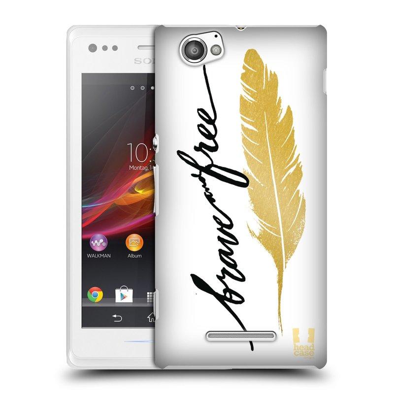 Plastové pouzdro na mobil Sony Xperia M C1905 HEAD CASE PÍRKO ZLATÉ FREE (Kryt či obal na mobilní telefon Sony Xperia M a M Dual)