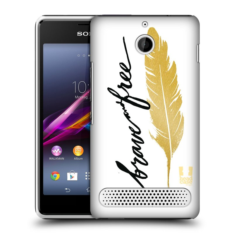 Plastové pouzdro na mobil Sony Xperia E1 D2005 HEAD CASE PÍRKO ZLATÉ FREE (Kryt či obal na mobilní telefon Sony Xperia E1 a E1 Dual )
