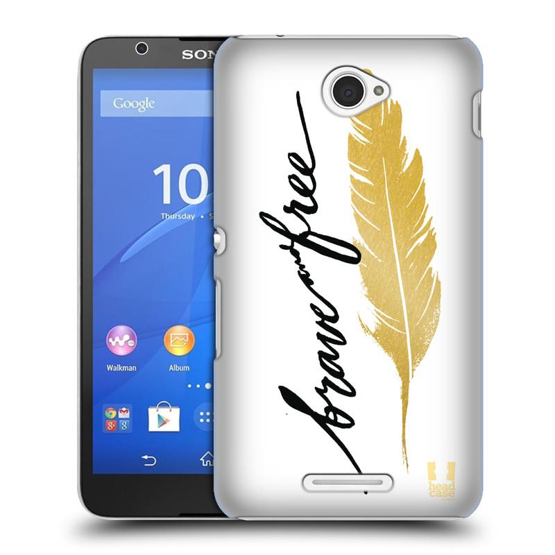 Plastové pouzdro na mobil Sony Xperia E4 E2105 HEAD CASE PÍRKO ZLATÉ FREE (Kryt či obal na mobilní telefon Sony Xperia E4 a E4 Dual SIM)