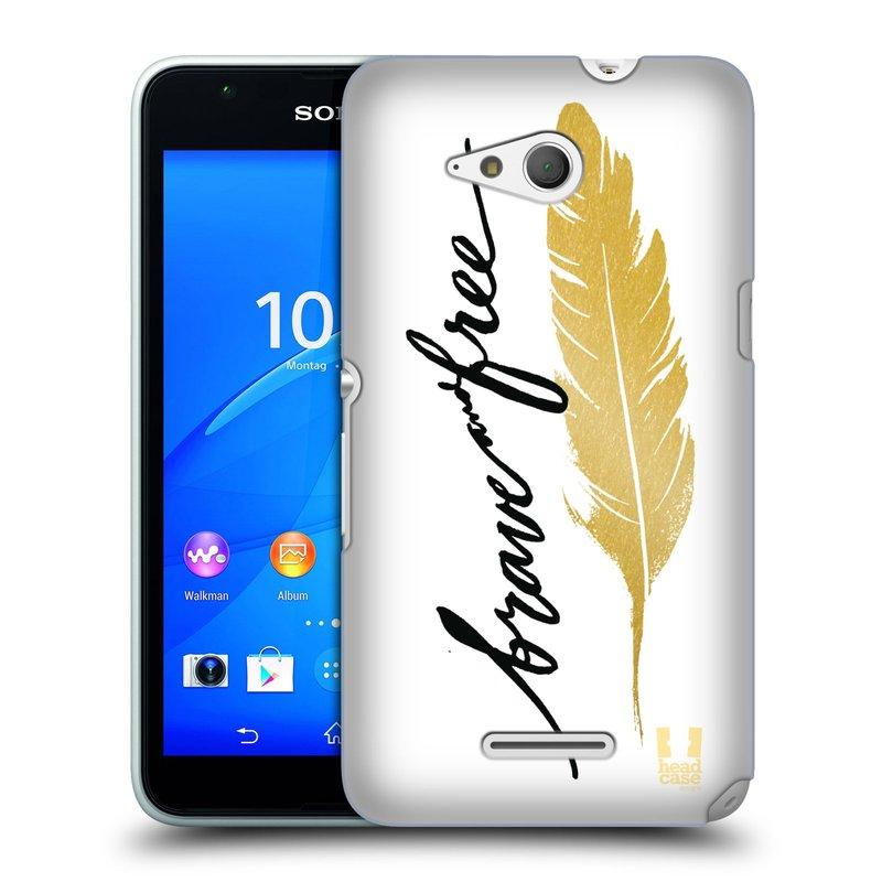Plastové pouzdro na mobil Sony Xperia E4g E2003 HEAD CASE PÍRKO ZLATÉ FREE (Kryt či obal na mobilní telefon Sony Xperia E4g a E4g Dual SIM)