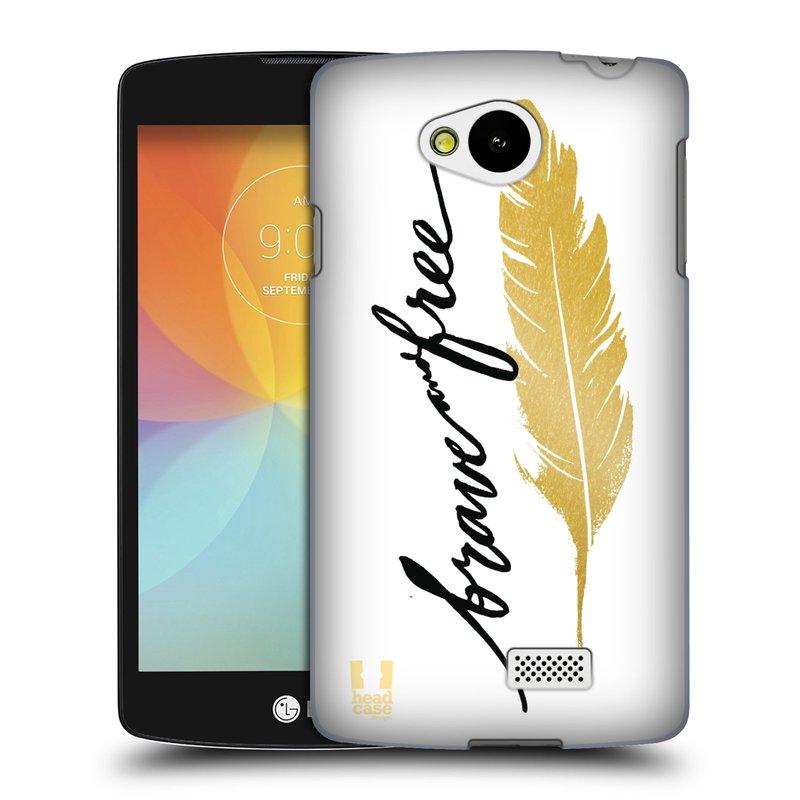 Plastové pouzdro na mobil LG F60 HEAD CASE PÍRKO ZLATÉ FREE (Kryt či obal na mobilní telefon LG F60 D390n)