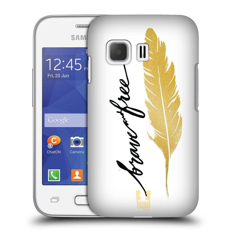 Plastové pouzdro na mobil Samsung Galaxy Young 2 HEAD CASE PÍRKO ZLATÉ FREE (Kryt či obal na mobilní telefon Samsung Galaxy Young 2 SM-G130)