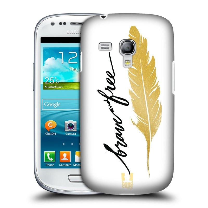 Plastové pouzdro na mobil Samsung Galaxy S III Mini HEAD CASE PÍRKO ZLATÉ FREE (Kryt či obal na mobilní telefon Samsung Galaxy S III Mini GT-i8190)