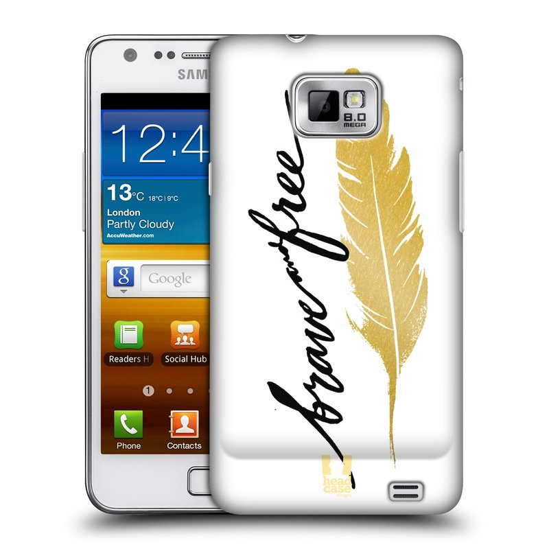 Plastové pouzdro na mobil Samsung Galaxy S II HEAD CASE PÍRKO ZLATÉ FREE (Kryt či obal na mobilní telefon Samsung Galaxy S II GT-i9100)