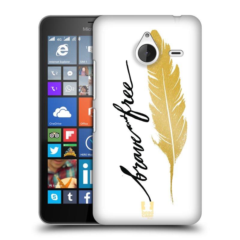 Plastové pouzdro na mobil Microsoft Lumia 640 XL HEAD CASE PÍRKO ZLATÉ FREE (Kryt či obal na mobilní telefon Microsoft Lumia 640 XL)