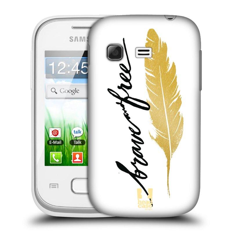Plastové pouzdro na mobil Samsung Galaxy Pocket HEAD CASE PÍRKO ZLATÉ FREE (Kryt či obal na mobilní telefon Samsung Galaxy Pocket GT-S5300)