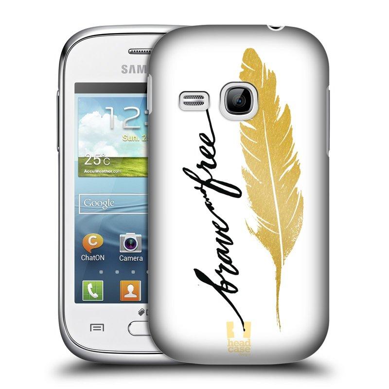 Plastové pouzdro na mobil Samsung Galaxy Young HEAD CASE PÍRKO ZLATÉ FREE (Kryt či obal na mobilní telefon Samsung Galaxy Young GT-S6310)