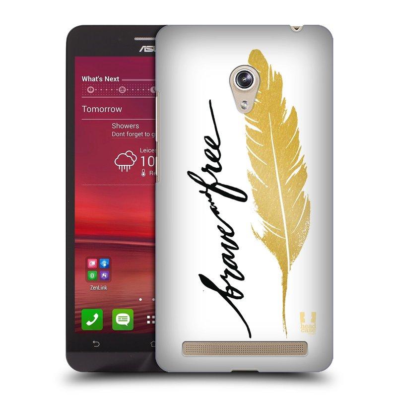 Plastové pouzdro na mobil Asus Zenfone 6 HEAD CASE PÍRKO ZLATÉ FREE (Kryt či obal na mobilní telefon Asus Zenfone 6 A600CG / A601CG)
