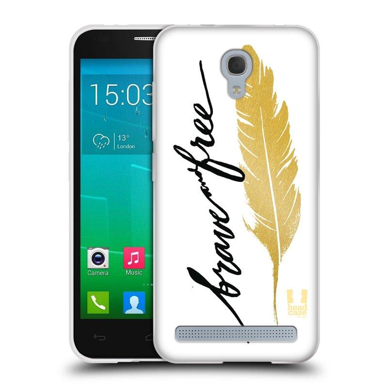 Silikonové pouzdro na mobil Alcatel One Touch Idol 2 Mini S 6036Y HEAD CASE PÍRKO ZLATÉ FREE (Silikonový kryt či obal na mobilní telefon Alcatel Idol 2 Mini S OT-6036Y)