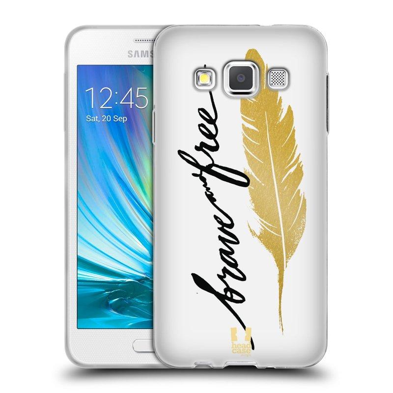 Silikonové pouzdro na mobil Samsung Galaxy A3 HEAD CASE PÍRKO ZLATÉ FREE (Silikonový kryt či obal na mobilní telefon Samsung Galaxy A3 SM-A300)