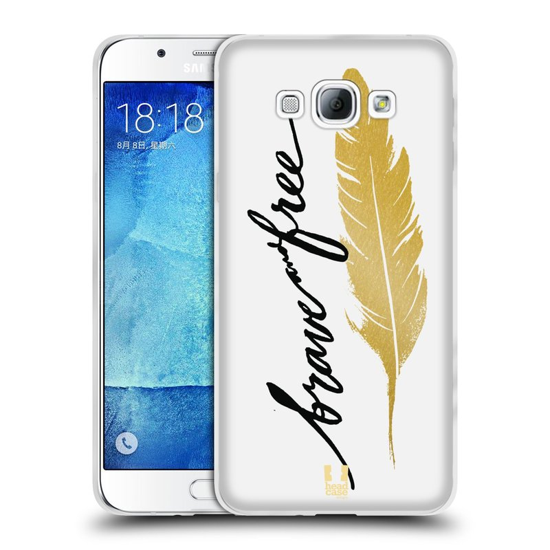 Silikonové pouzdro na mobil Samsung Galaxy A8 HEAD CASE PÍRKO ZLATÉ FREE (Silikonový kryt či obal na mobilní telefon Samsung Galaxy A8 SM-A800)