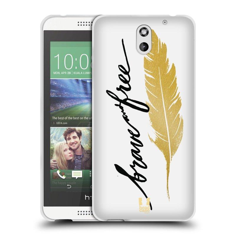 Silikonové pouzdro na mobil HTC Desire 610 HEAD CASE PÍRKO ZLATÉ FREE (Silikonový kryt či obal na mobilní telefon HTC Desire 610)