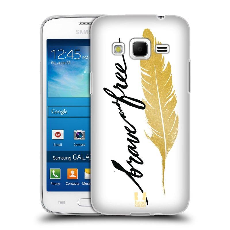 Silikonové pouzdro na mobil Samsung Galaxy Express 2 HEAD CASE PÍRKO ZLATÉ FREE (Silikonový kryt či obal na mobilní telefon Samsung Galaxy Express 2 SM-G3815)