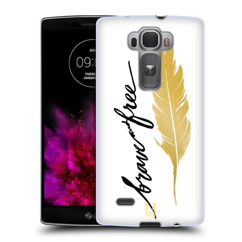 Silikonové pouzdro na mobil LG G Flex 2 HEAD CASE PÍRKO ZLATÉ FREE (Silikonový kryt či obal na mobilní telefon LG G Flex 2 H955)