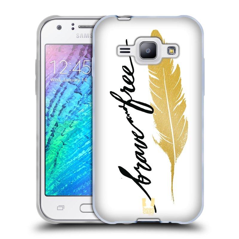 Silikonové pouzdro na mobil Samsung Galaxy J1 HEAD CASE PÍRKO ZLATÉ FREE (Silikonový kryt či obal na mobilní telefon Samsung Galaxy J1 a J1 Duos)