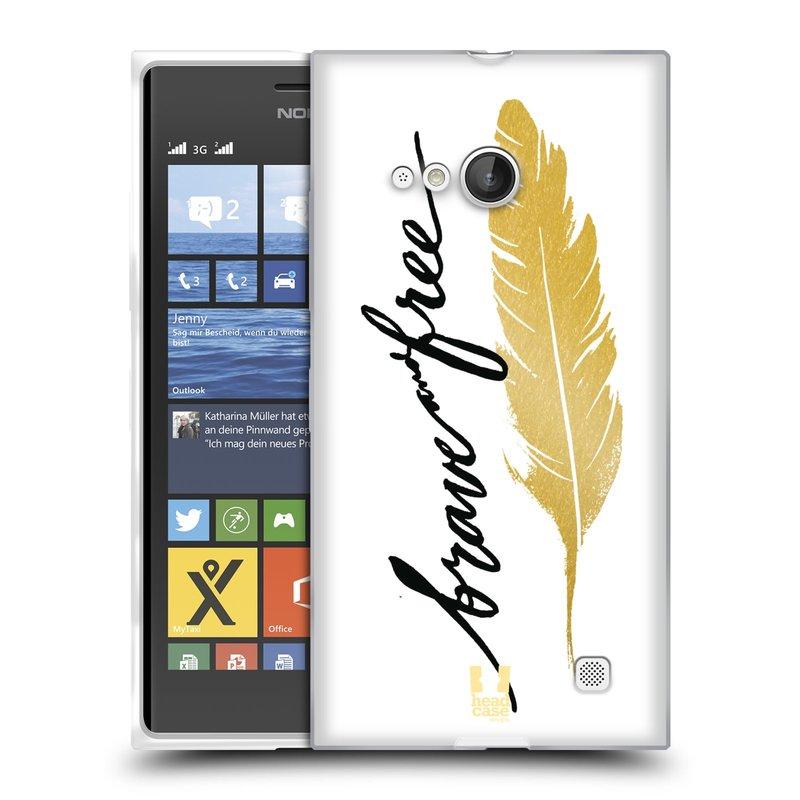 Silikonové pouzdro na mobil Nokia Lumia 730 Dual SIM HEAD CASE PÍRKO ZLATÉ FREE (Silikonový kryt či obal na mobilní telefon Nokia Lumia 730 Dual SIM)