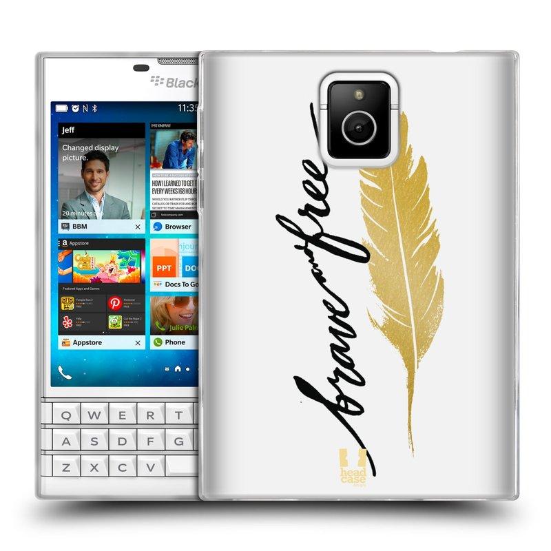 Silikonové pouzdro na mobil Blackberry PASSPORT HEAD CASE PÍRKO ZLATÉ FREE (Silikonový kryt či obal na mobilní telefon Blackberry PASSPORT)