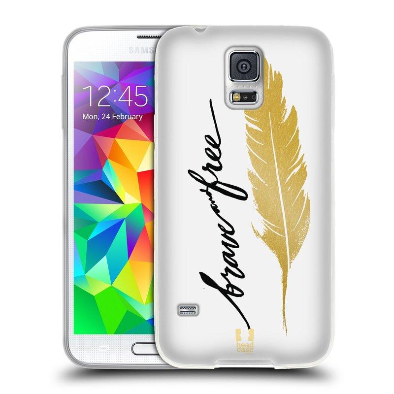 Silikonové pouzdro na mobil Samsung Galaxy S5 HEAD CASE PÍRKO ZLATÉ FREE (Silikonový kryt či obal na mobilní telefon Samsung Galaxy S5 SM-G900F)