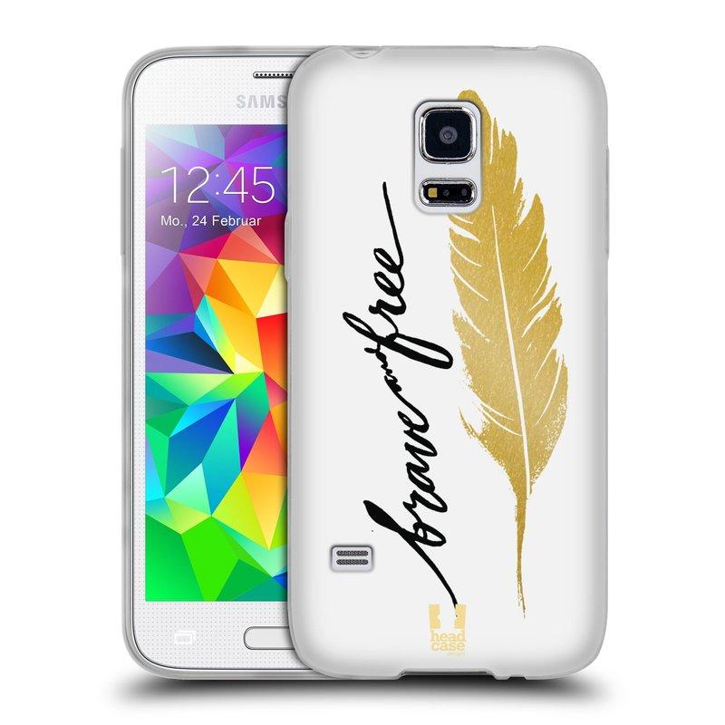 Silikonové pouzdro na mobil Samsung Galaxy S5 Mini HEAD CASE PÍRKO ZLATÉ FREE (Silikonový kryt či obal na mobilní telefon Samsung Galaxy S5 Mini SM-G800F)