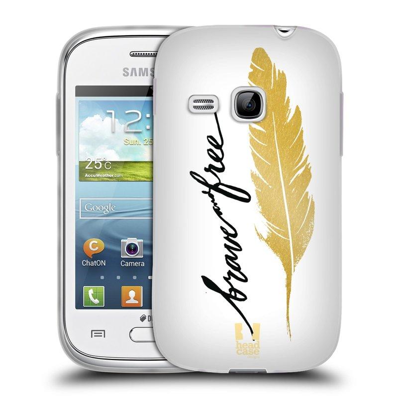 Silikonové pouzdro na mobil Samsung Galaxy Young HEAD CASE PÍRKO ZLATÉ FREE (Silikonový kryt či obal na mobilní telefon Samsung Galaxy Young GT-S6310)