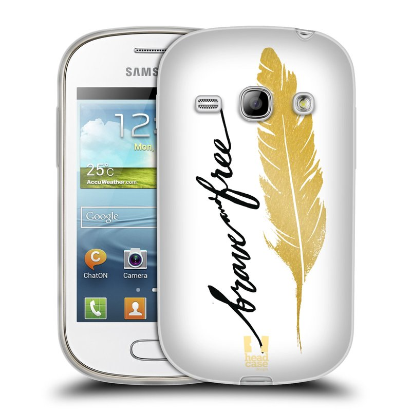 Silikonové pouzdro na mobil Samsung Galaxy Fame HEAD CASE PÍRKO ZLATÉ FREE (Silikonový kryt či obal na mobilní telefon Samsung Galaxy Fame GT-S6810)