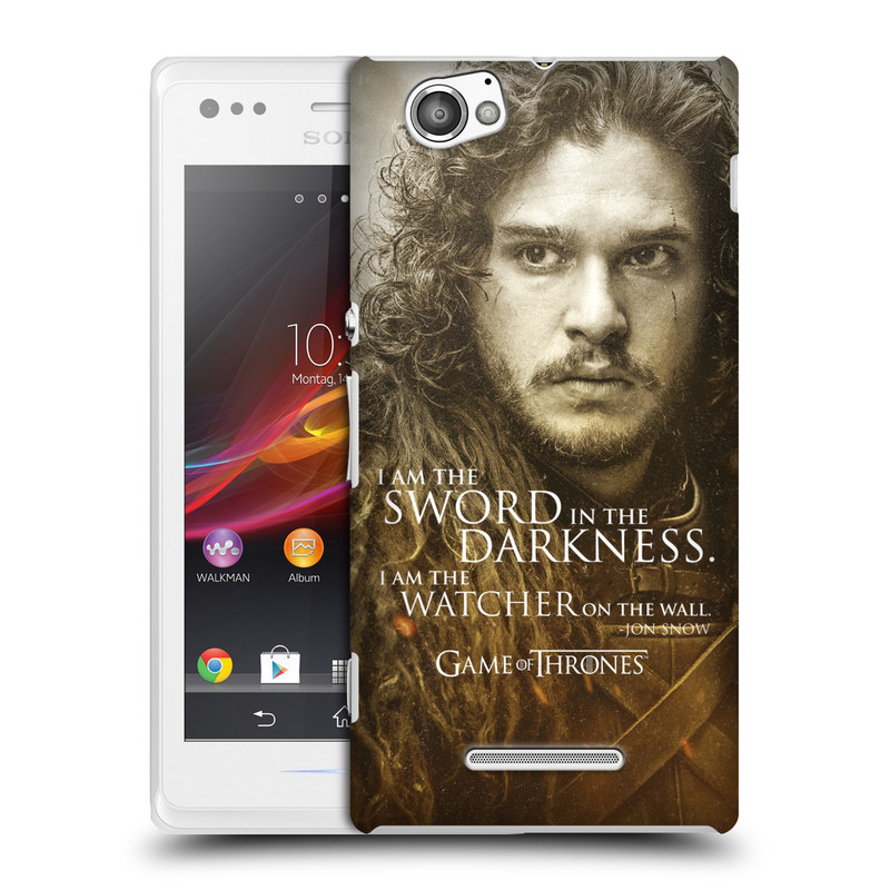 Plastové pouzdro na mobil Sony Xperia M C1905 HEAD CASE Hra o trůny - Jon Snow (Plastový kryt či obal na mobilní telefon s licencovaným motivem Hra o trůny - Game Of Thrones pro Sony Xperia M )
