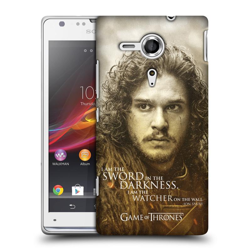 Plastové pouzdro na mobil Sony Xperia SP C5303 HEAD CASE Hra o trůny - Jon Snow (Plastový kryt či obal na mobilní telefon s licencovaným motivem Hra o trůny - Game Of Thrones pro Sony Xperia SP)