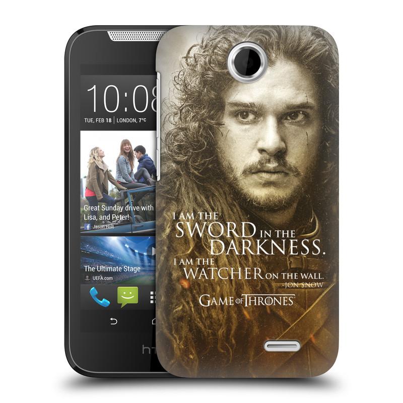 Plastové pouzdro na mobil HTC Desire 310 HEAD CASE Hra o trůny - Jon Snow (Plastový kryt či obal na mobilní telefon s licencovaným motivem Hra o trůny - Game Of Thrones pro HTC Desire 310)