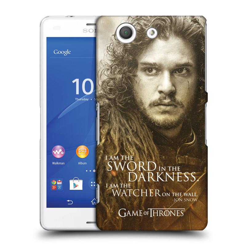 Plastové pouzdro na mobil Sony Xperia Z3 Compact D5803 HEAD CASE Hra o trůny - Jon Snow (Plastový kryt či obal na mobilní telefon s licencovaným motivem Hra o trůny - Game Of Thrones pro Sony Xperia Z3 Compact)