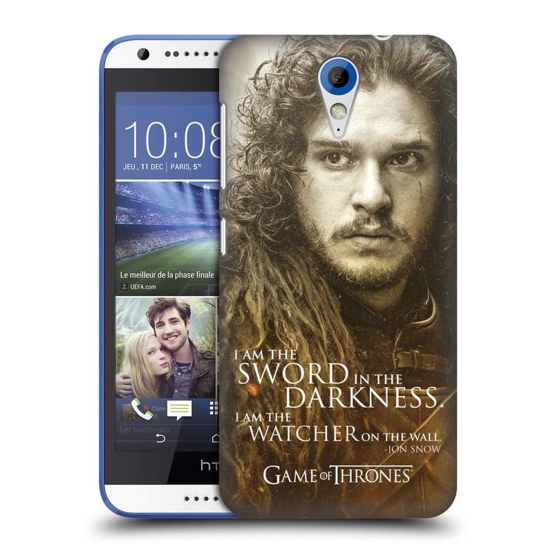 Plastové pouzdro na mobil HTC Desire 620 HEAD CASE Hra o trůny - Jon Snow (Plastový kryt či obal na mobilní telefon s licencovaným motivem Hra o trůny - Game Of Thrones pro HTC Desire 620)