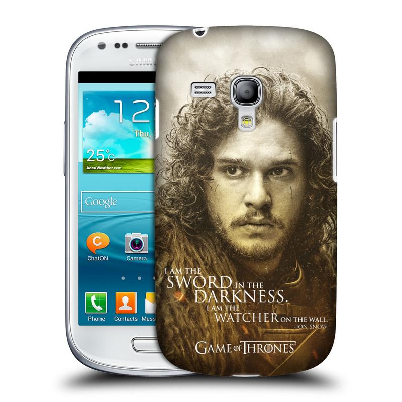 Pouzdro na mobil Samsung Galaxy S III Mini VE HEAD CASE Hra o trůny - Jon Snow (Plastový kryt či obal na mobilní telefon s licencovaným motivem Hra o trůny - Game Of Thrones pro Samsung Galaxy S3 Mini VE GT-i8200)
